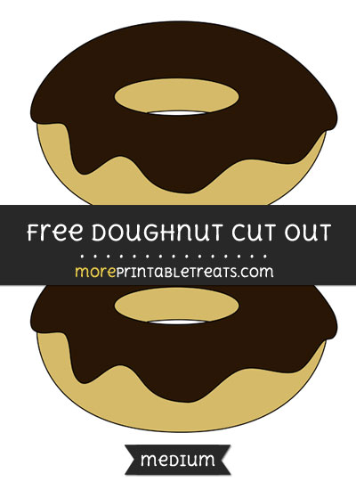 Free Doughnut Cut Out - Medium Size Printable