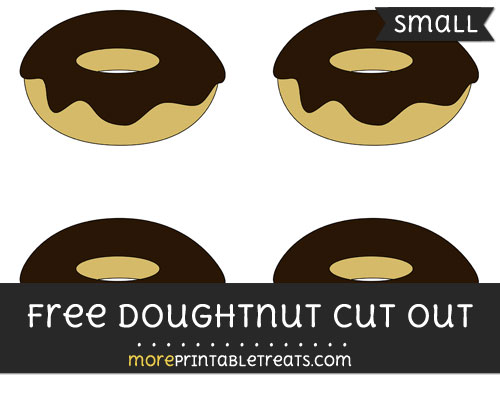 Free Doughnut Cut Out - Small Size Printable