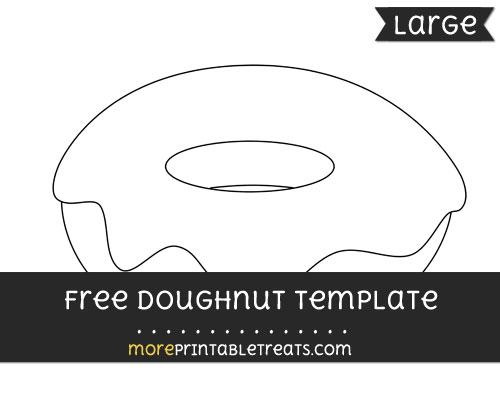 Free Doughnut Template - Large