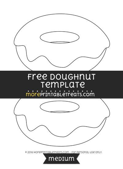 Free Doughnut Template - Medium