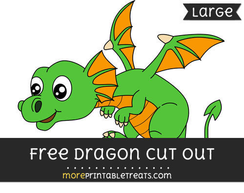Free Dragon Cut Out - Large size printable