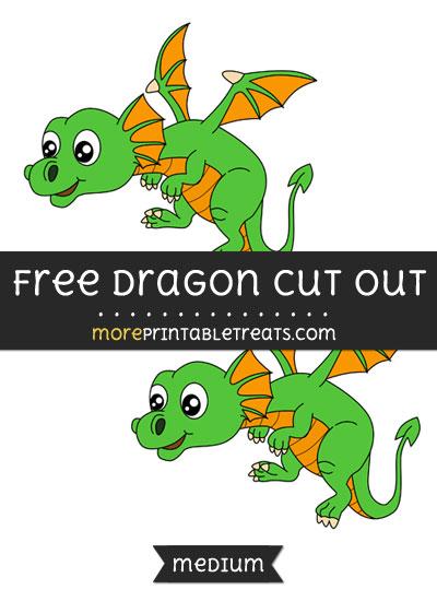 Free Dragon Cut Out - Medium Size Printable