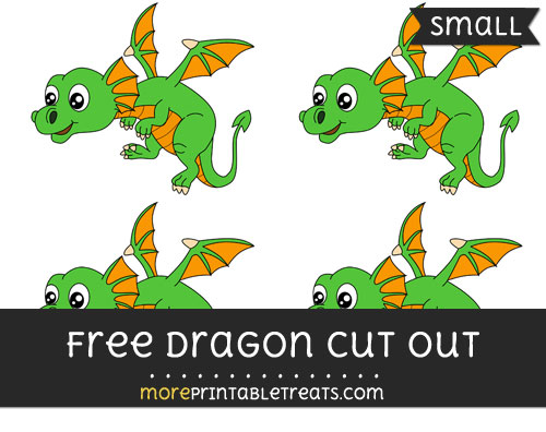 Free Dragon Cut Out - Small Size Printable