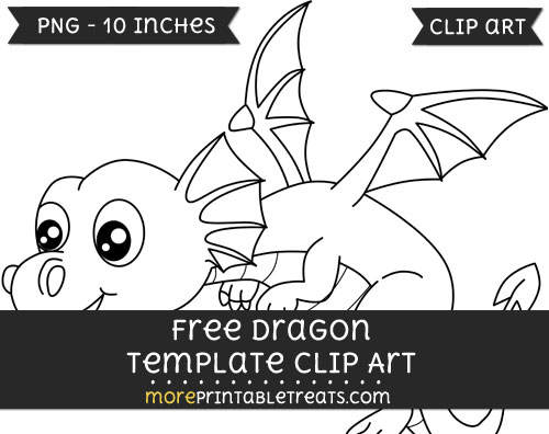 Free Dragon Template - Clipart