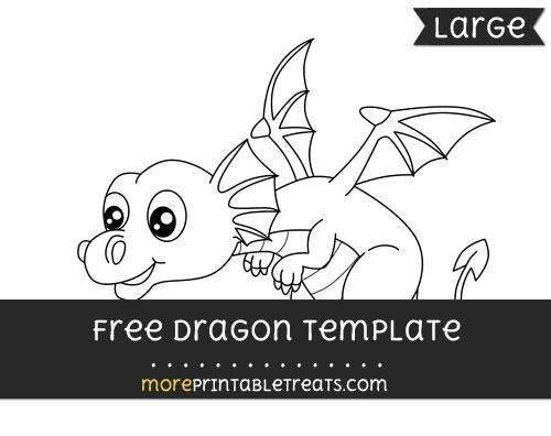 Free Dragon Template - Large