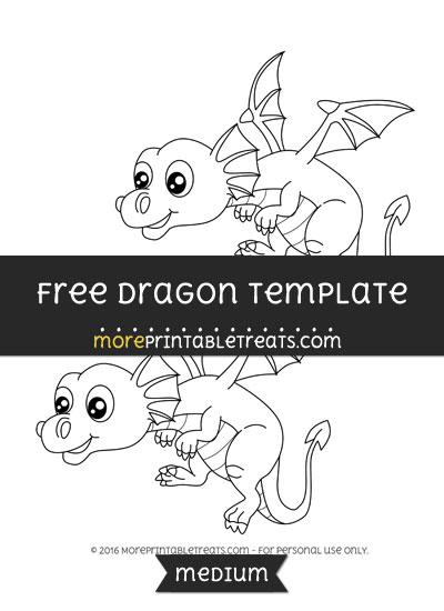 Free Dragon Template - Medium
