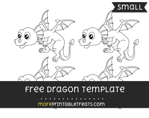 Free Dragon Template - Small
