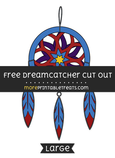 Free Dreamcatcher Cut Out - Large size printable