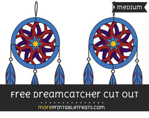 Free Dreamcatcher Cut Out - Medium Size Printable