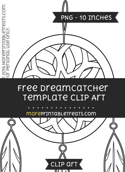 Free Dreamcatcher Template - Clipart