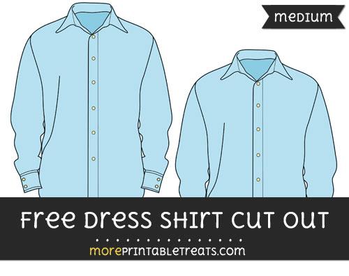 Free Dress Shirt Cut Out - Medium Size Printable