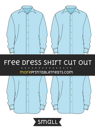 Free Dress Shirt Cut Out - Small Size Printable