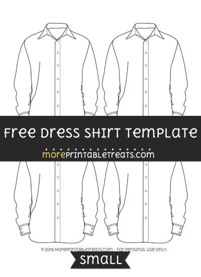 Free Dress Shirt Template - Small