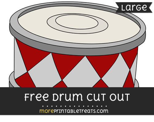 Free Drum Cut Out - Large size printable