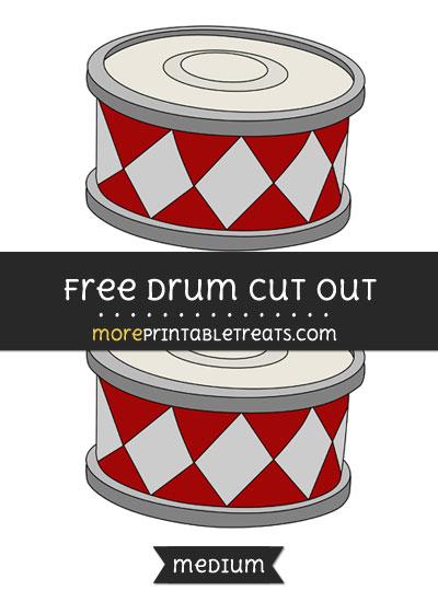 Free Drum Cut Out - Medium Size Printable