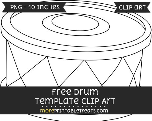 Free Drum Template - Clipart