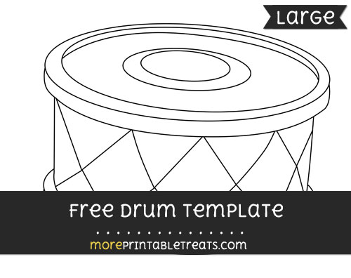 Free Drum Template - Large