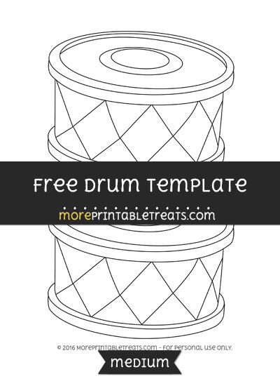Free Drum Template - Medium