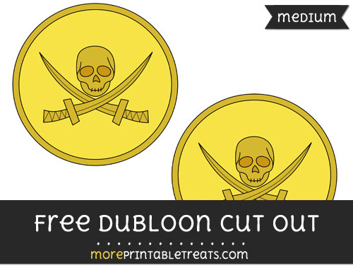 Free Dubloon Cut Out - Medium Size Printable