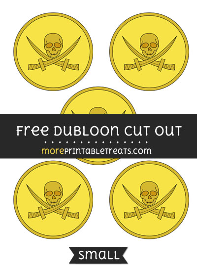 Free Dubloon Cut Out - Small Size Printable