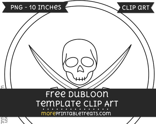 Free Dubloon Template - Clipart