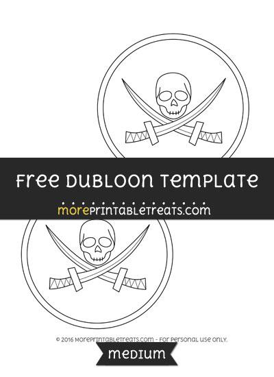 Free Dubloon Template - Medium