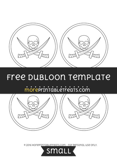 Free Dubloon Template - Small