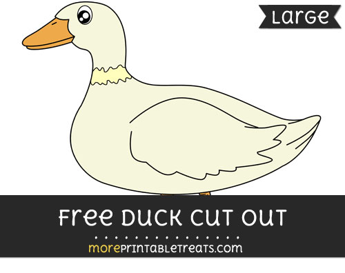Free Duck Cut Out - Large size printable