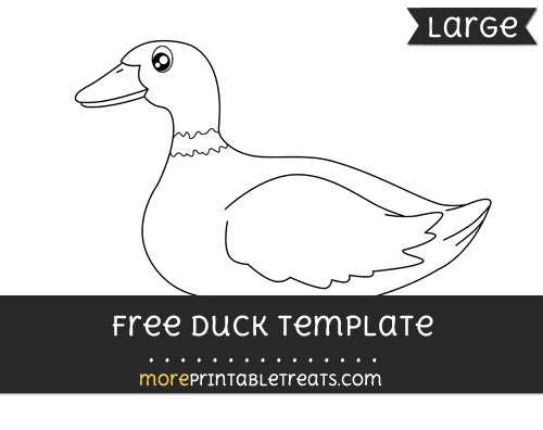 Free Duck Template - Large