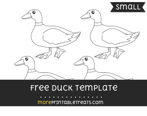Free Duck Template - Small