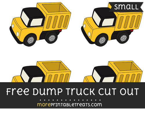 Free Dump Truck Cut Out - Small Size Printable