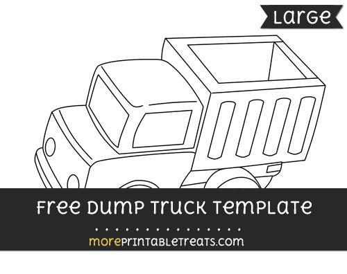 Free Dump Truck Template - Large