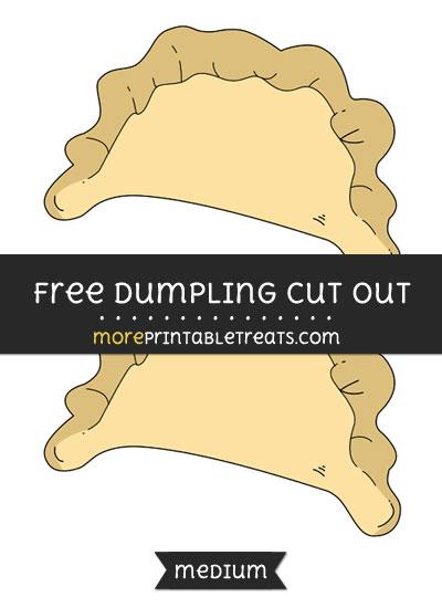Free Dumpling Cut Out - Medium Size Printable