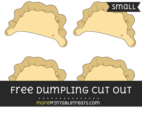 Free Dumpling Cut Out - Small Size Printable