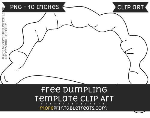 Free Dumpling Template - Clipart