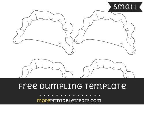 Free Dumpling Template - Small