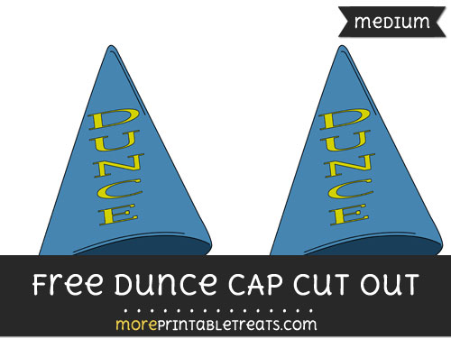 Free Dunce Cap Cut Out - Medium Size Printable