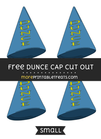 Free Dunce Cap Cut Out - Small Size Printable