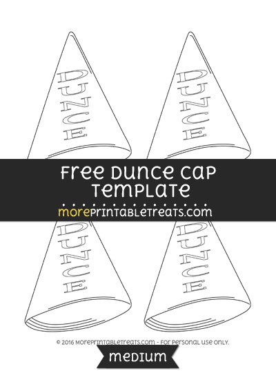 Free Dunce Cap Template - Small