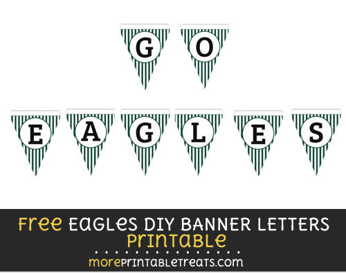 Free Philadelphia Eagles DIY Pennant Flag Banner Decoration