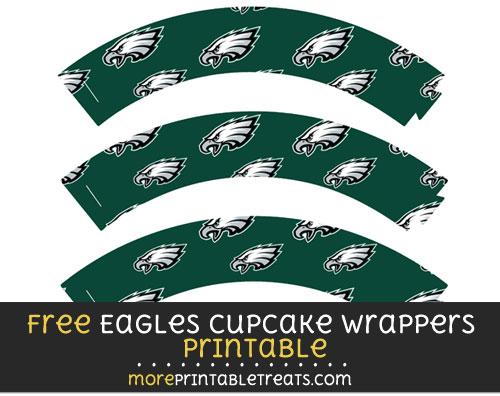 Free Philadelphia Eagles Cupcake Wrappers