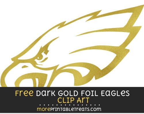 Free Philadelphia Eagles Dark Gold Foil Clipart Clear Background