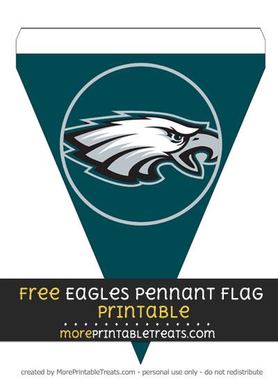 Free Philadelphia Eagles Pennant Flag Banner Decoration