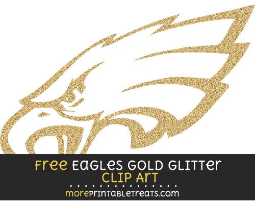 Free Philadelphia Eagles Gold Glitter Clipart Clear Background