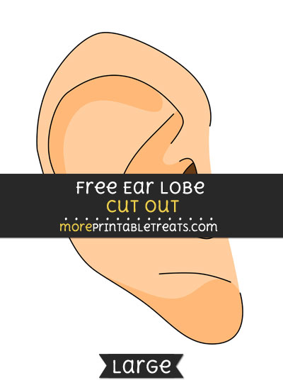 Free Earlobe Cut Out - Large size printable