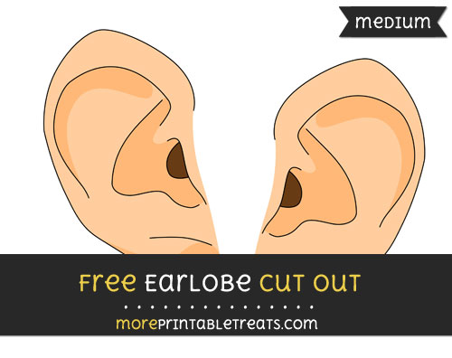 Free Earlobe Cut Out - Medium Size Printable