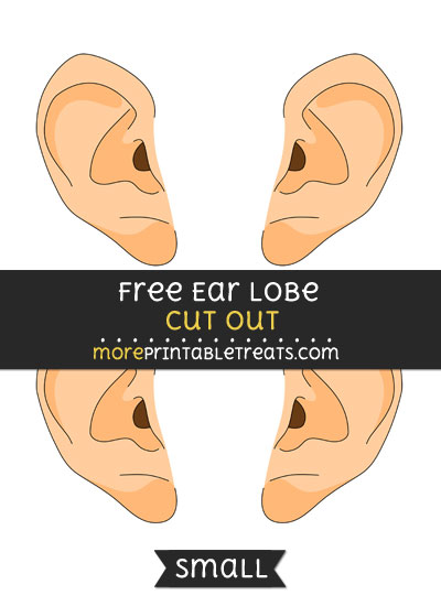 Free Earlobe Cut Out - Small Size Printable