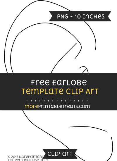Free Earlobe Template - Clipart