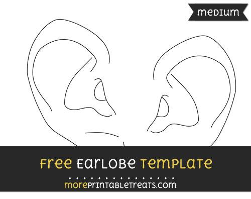 Free Earlobe Template - Medium