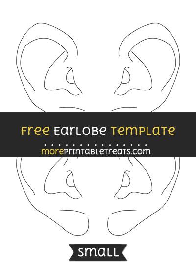 Free Earlobe Template - Small